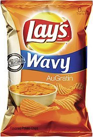 potato chips wavy augratin Lays Nutrition info