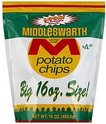 potato chips Middleswarth Nutrition info