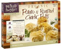 potato & roasted garlic puffs organic The Fillo Factory Nutrition info
