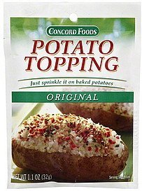 potato topping original Concord Foods Nutrition info