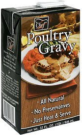 poultry gravy Chef Creations Nutrition info