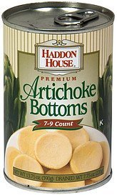 premium artichoke bottoms 7-9 count Haddon House Nutrition info