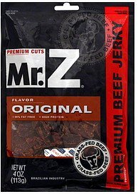 premium beef jerky original Mr. Z Nutrition info