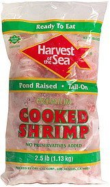premium cooked shrimp tail-on Harvest of the Sea Nutrition info
