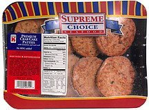 premium crab cake patties Kanimi Nutrition info