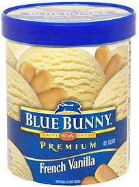 premium ice cream french vanilla Blue Bunny Nutrition info