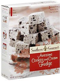 premium mix kit awesome cookies and cream fudge Southern Gourmet Nutrition info