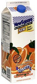 premium orange juice calcium New Square Nutrition info