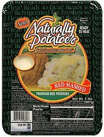 premium red potatoes red mashed Naturally Potatoes Nutrition info