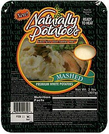 premium white potatoes mashed Naturally Potatoes Nutrition info