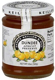 preserve dundee apricot James Keiller & Son Nutrition info