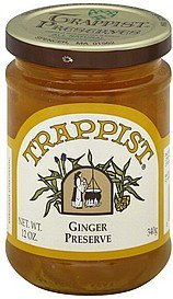 preserve ginger Trappist Nutrition info