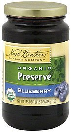 preserve organic blueberry Nash Brothers Trading Company Nutrition info