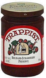 preserve rhubarb- strawberry Trappist Nutrition info