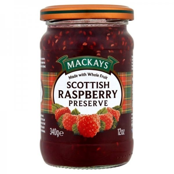 preserve scottish raspberry Mackays Nutrition info