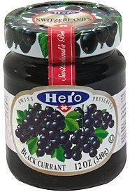 preserves black currant Hero Nutrition info