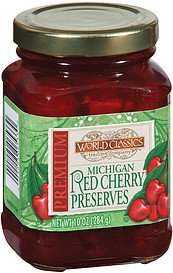 preserves michigan red cherry World Classics Trading Company Nutrition info