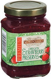 preserves oregon strawberry World Classics Trading Company Nutrition info