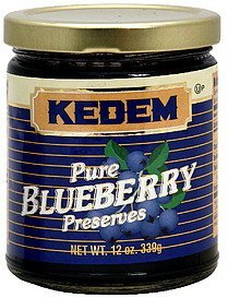 preserves pure blueberry Kedem Nutrition info