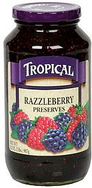 preserves razzleberry Tropical Nutrition info