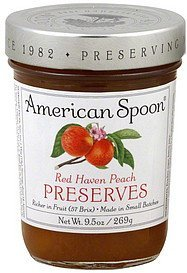 preserves red haven peach American Spoon Nutrition info