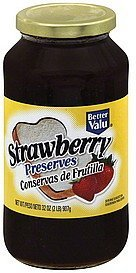 preserves strawberry Better valu Nutrition info