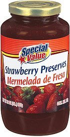 preserves strawberry Special Value Nutrition info