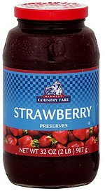 preserves strawberry Midwest Country Fare Nutrition info