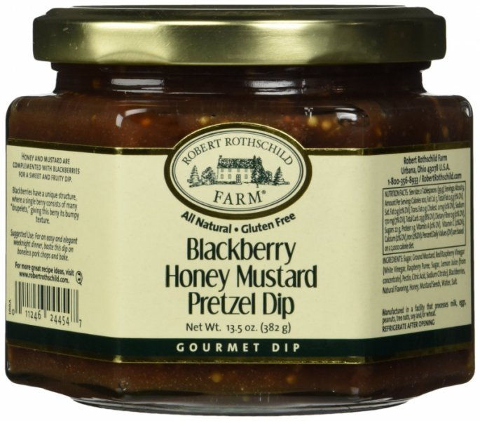 pretzel dip blackberry honey mustard Robert Rothschild Farm Nutrition info