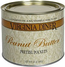 pretzel pockets peanut butter Virginia Diner Nutrition info