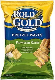 pretzel waves parmesan garlic Rold Gold Nutrition info