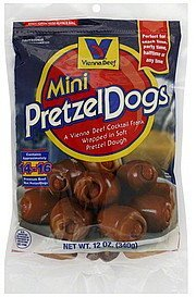 pretzeldogs mini Vienna Beef Nutrition info