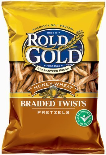 pretzels braided twists, honey wheat Rold Gold Nutrition info