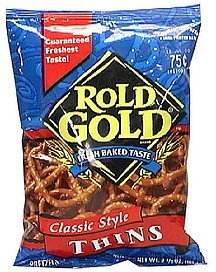 pretzels classic style thins Rold Gold Nutrition info