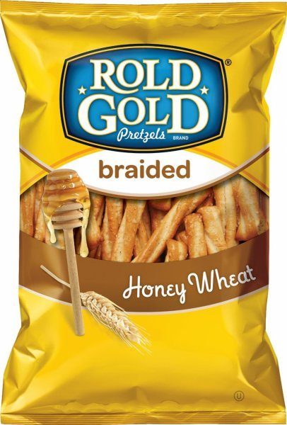 pretzels honey wheat braided Rold Gold Nutrition info