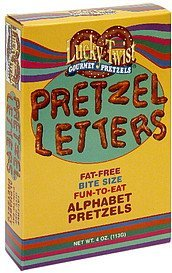 pretzels letters fat-free Lucky Twist Nutrition info