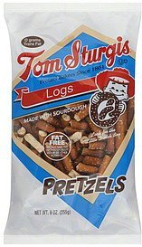 pretzels logs Tom Sturgis Nutrition info