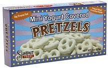 pretzels mini yogurt covered Summit Foods Nutrition info