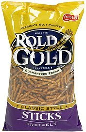 pretzels sticks, classic style Rold Gold Nutrition info