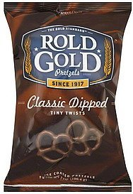 pretzels tiny twists, classic dipped Rold Gold Nutrition info