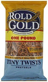 pretzels tiny twists, lightly salted Rold Gold Nutrition info