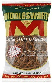 pretzels ultra thin Middleswarth Nutrition info