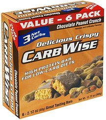 protein bar chocolate peanut crunch CarbWise Nutrition info