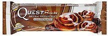 protein bar natural, cinnamon roll Quest Bar Nutrition info