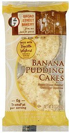 pudding cakes banana Broad Street Bakery Nutrition info