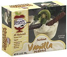 pudding instant, vanilla Natural Desserts Nutrition info