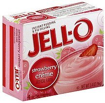 pudding & pie filling instant, strawberry creme Jell-o Nutrition info
