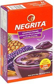 pudding purple corn flavor Negrita Nutrition info