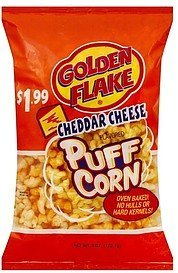 puff corn cheddar cheese Golden Flake Nutrition info