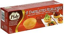 puff pastry tarlets tartelettes feuilletees Gourmet Pidy Nutrition info